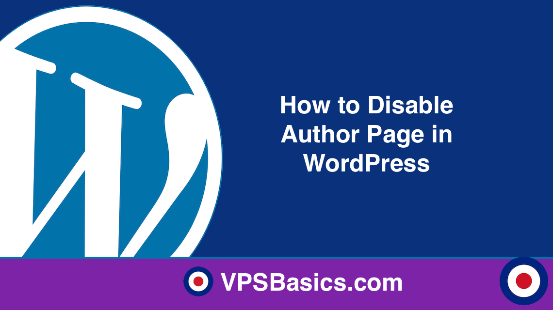 How to Disable Author Page in WordPress