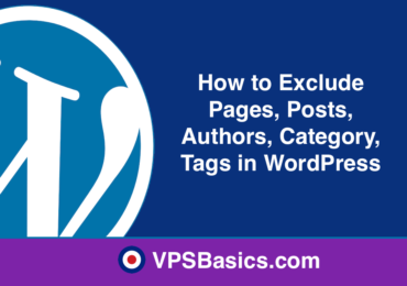 How to Exclude Pages, Posts, Authors, Category, Tags in WordPress